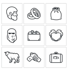 Custom wedding - bride price icons vector image