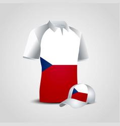 Czech republic sports t-shirt and cap design vector