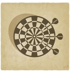 darts old background vector image