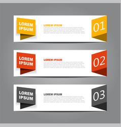 design horizontal template flyer banner vector image