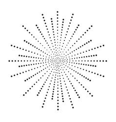 Dot sunburst halftone effect beams vector
