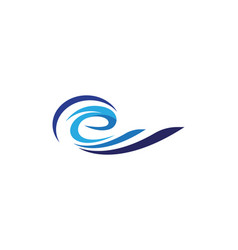 E letter water wave logo template vector