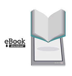 Ebook design vector image