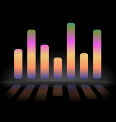 Eq equalizer graphics with reflection version vector