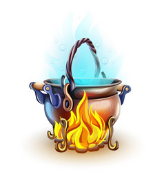 fairy-tale pot with magic vector image
