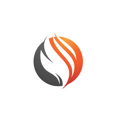 flame icon fire design vector image