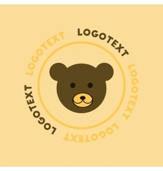 Flat icon on background bear logo vector