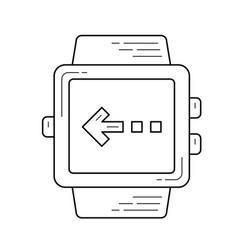 Flick left line icon vector
