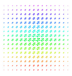 flora plant icon halftone spectrum pattern vector image