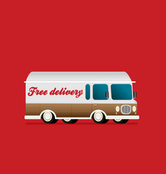 free delivery concept in flat style - for banner vector image
