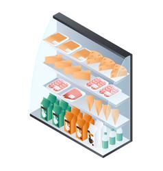 fridge shelf product icon isometric style vector image