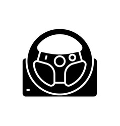gaming steering wheel icon vector image