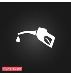 Gasoline pump nozzle sign vector