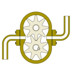Gear pump vector