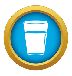 glass water icon blue isolated vector image