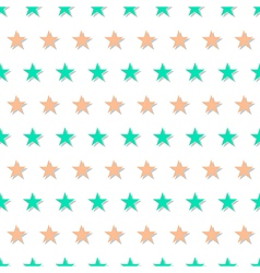 Green Orange Star Abstract White Background vector image