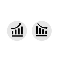 growth graph business decline graph or diagram vector image