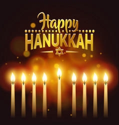 Happy hanukkah background cover card celebration vector