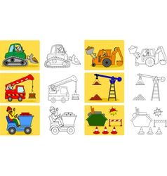 Heavy industry machineries vector image