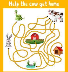 Help cow get home vector