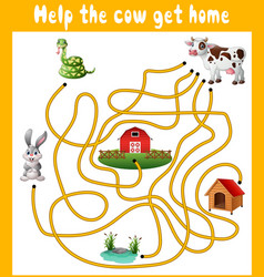 Help the cow get home vector