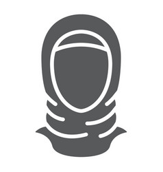 Hijab glyph icon arab and woman islam girl sign vector