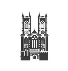 icon of westminster abbey vector image