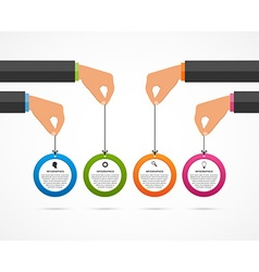 infographics design template human hands holding vector image