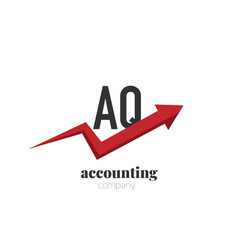initial letter aq creative finance - money vector image