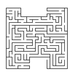 Isolated black maze labyrinth beginning vector