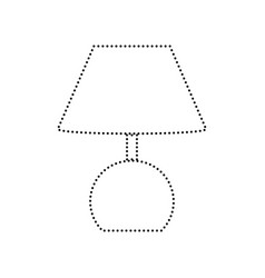 Lamp sign black dotted icon vector
