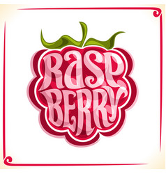 logo for raspberry vector image