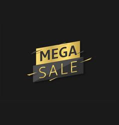 mega sale label vector image