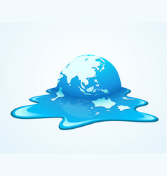 Melting world concept global warming vector