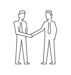 men make a deal businessmen make handshake vector image
