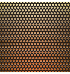 metal grid fire background vector image