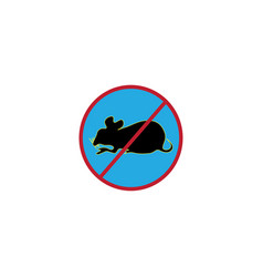 Mouse virus warning sign icon design vector