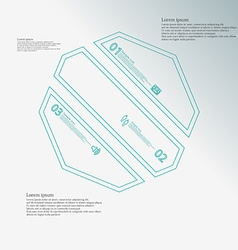Octagon infographic template askew divided to vector