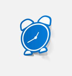 paper sticker alarm clock vector image