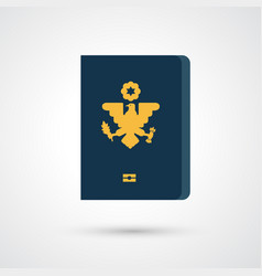 passport icon vector image