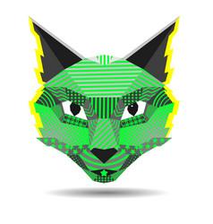 Pop art cat creative in low vector