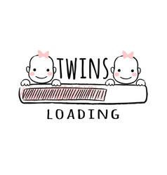 Progress bar with inscription - twins loading vector