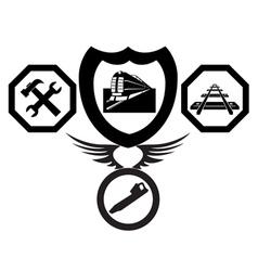 railroad emblems vector image