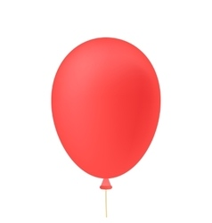 red ballon isolated on white background vector image