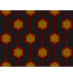 Retro Hexagons Red Seamless Tile vector