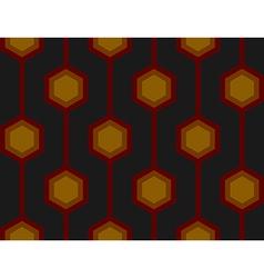 Retro Hexagons Red Seamless Tile vector image