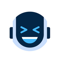 Robot face icon smiling face laugh emotion robotic vector