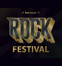 rock music festival poster hipster rock-n-roll vector image