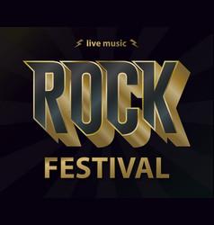 rock music festival poster hipster rock-n-roll vector image