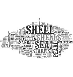 Shell word cloud concept vector